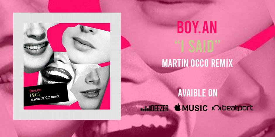 BOY.AN «I SAID» EP